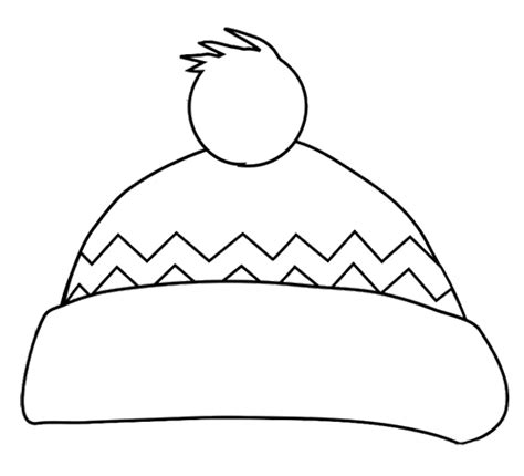 Free Coloring Pages Of Winter Scarf Hat To Color