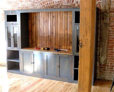 Large Farmhouse Style Media Cabinet   ECustomFinishes
