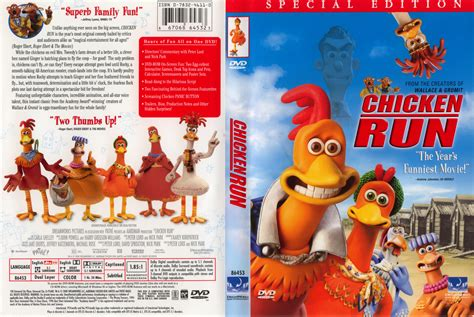 covered run chicken run 2000 ws r1 dvd cd label dvd cover front cover