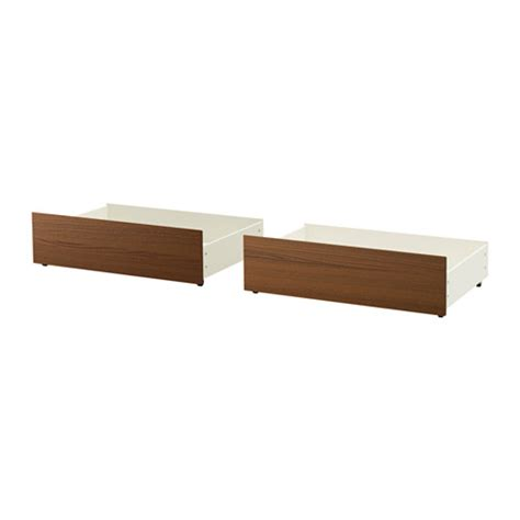 ikea malm storage bed malm underbed storage box for high bed brown stained ash