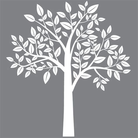 white tree wall decal for nursery request a custom order and something made just for you