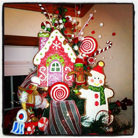 gingerbread themed christmas tree winter pinterest