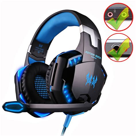 Kotion Each G2000 Gaming Headset Bass With Led Light kotion each g2000 g9000 gaming headset bass stereo computer headphones with microphone