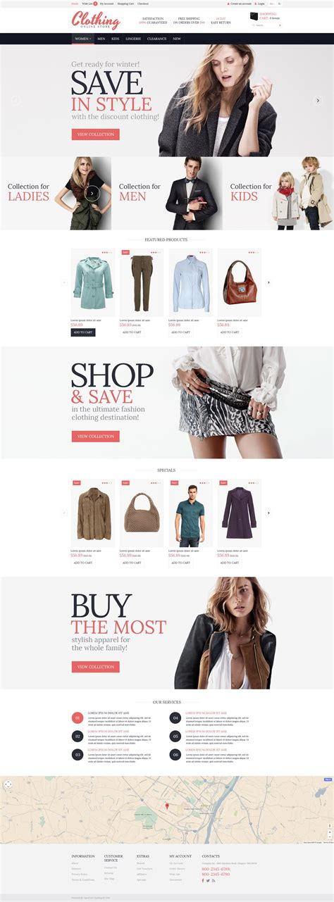 opencart themes clothing clothing for everyone opencart template 53451