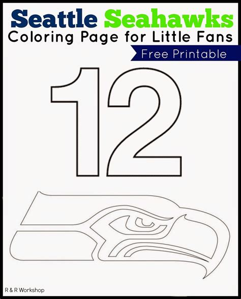 free coloring pages of seahawks mascot