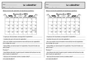 Le Calendrier Ce1 Le Calendrier Ce1 Exercices 224 Imprimer Pass Education