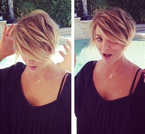 why did kaley cuoco cut her hair off big bang s kaley cuoco chops hair off embraces inner