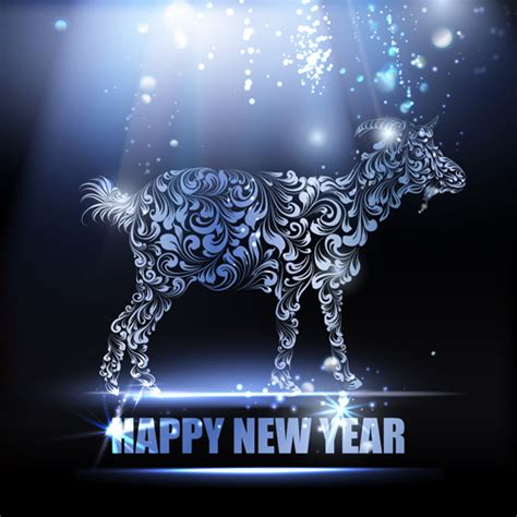 new year 2015 goat wallpaper 2015 new year for goat creative background vector 01