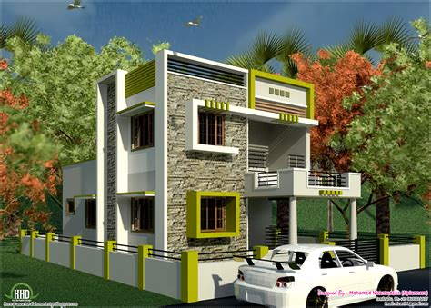 house plans india south indian style new modern 1460 sq feet house design