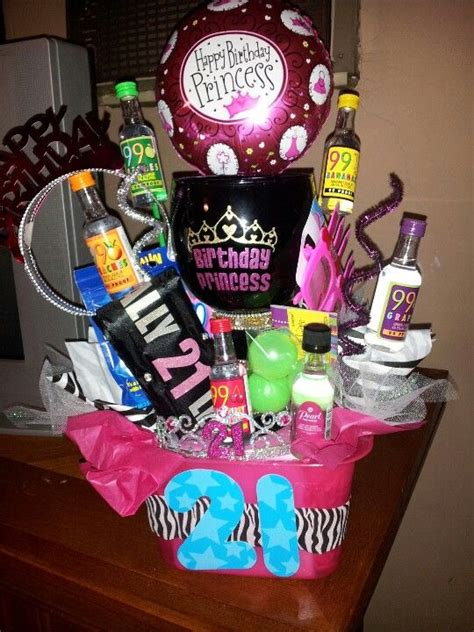 Best Birthday Favors by 21st Birthday Gift For Mir Basket With Margarita