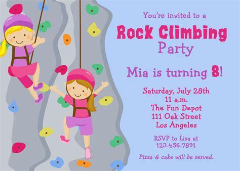 printable birthday invitations rock climbing rock climbing birthday party invitation by thebutterflypress