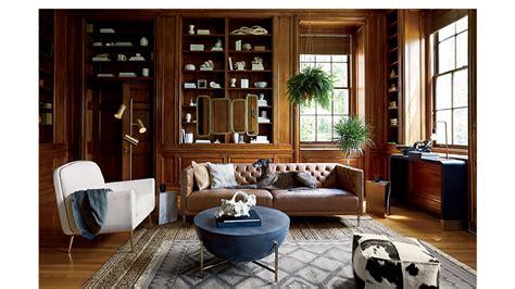 savile dark saddle brown leather tufted sofa cb