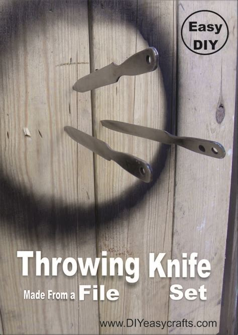 using throwing knives how to make a throwing knife from a file easy diy project