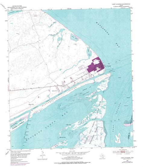 port o connor texas map port o connor topographic map tx usgs topo 28096d4