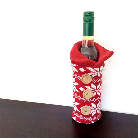 aytai 3pcs ugly christmas sweater wine bottle cover handmade wine bottle sweater for christmas decorations ugly christmas sweat knit sweater wine bottle cozy the sweater shop