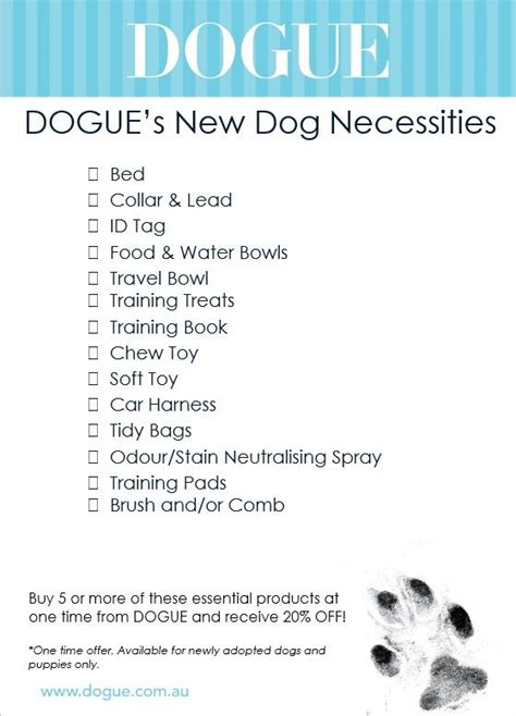 what to get for a new puppy get your paws on this puppy checklist to make sure you everything you need when