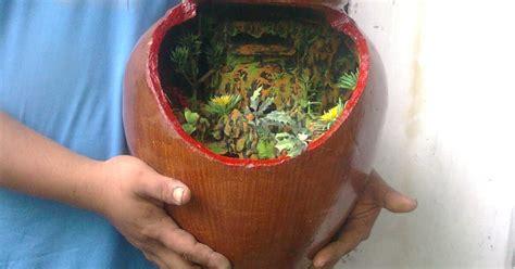 Lu Aquarium Dalam Air yogyakarta craft aquarium unik air terjun dalam gentong mini