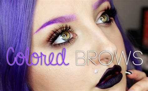 how to colored eyebrows using lipstick eyeshadow