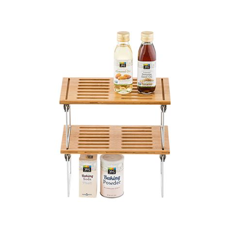 Kitchen Cabinet Storage Containers Bamboo Shelf Small Bamboo Stackable Shelf The Container