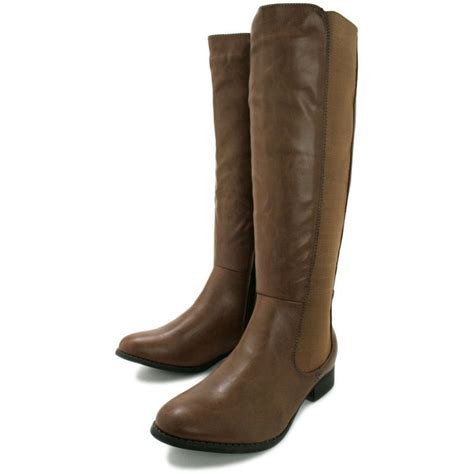 flat boots buy flat stretch knee high boots