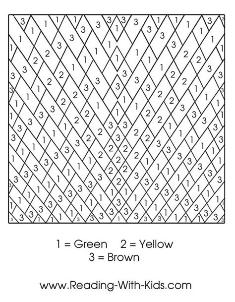 advanced color number coloring pages kids coloring