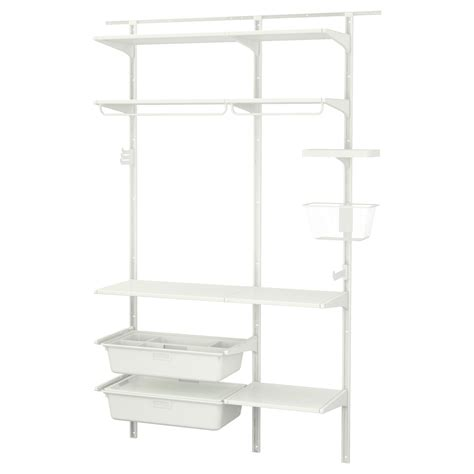 Algot Wall Upright Shelves Rod White 154x41x199 Cm Ikea Ikea Algot Shelves