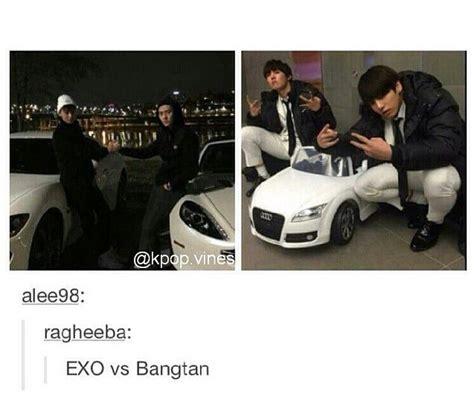 exo vs bts poll exo vs bts cars k pop amino