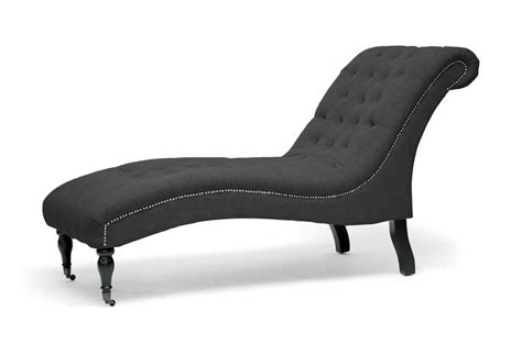 affordable chaise lounge baxton studio amelia gray linen victorian chaise lounge