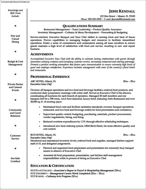 Saute Chef Cover Letter by Resume Sles For Freshers Engineers Free Pdf Best Resume Format For Experienced