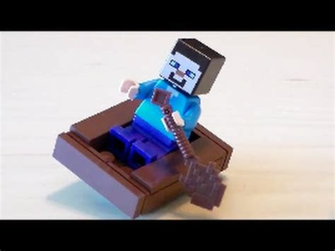 how to make a lego minecraft boat lego minecraft boat tutorial 2017 version youtube