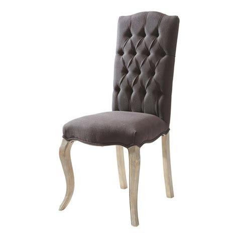imbottitura sedia sedia con imbottitura capitonn 233 in lino nero chlo 233