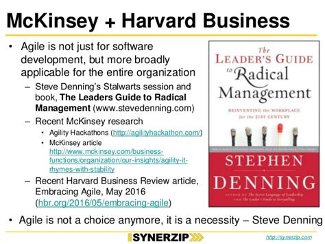 Harvard Mba Prerequisite Courses by Agile2016 Conference Top 10 Presented By Synerzip