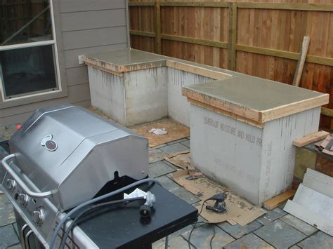 Building A Countertop by How To Build Outdoor Kitchen Cabinets