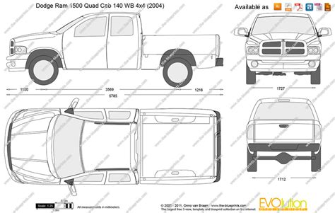 Dodge Ram 1500 Bed Size by The Blueprints Vector Drawing Dodge Ram 1500