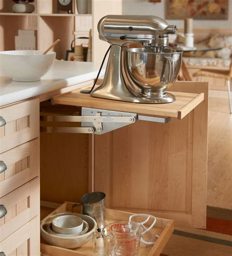 kitchen appliance cabinet storage mixer storage solutions and shelves on pinterest