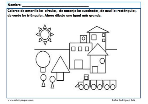 ejercicios de figuras geometricas las formas geom 233 tricas fichas infantil