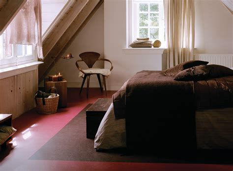 forbo marmoleum click natural linoleum flooring rustic bedroom chicago by