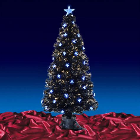 5ft 150cm beautiful black fibre optic christmas tree with