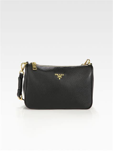 Prada Vitello Daino Mini Hobo Purse by Prada Daino Mini Hobo Bag In Black Lyst