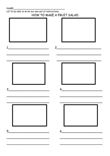 printable instructions template instructions fruit salad by rafiab teaching resources tes