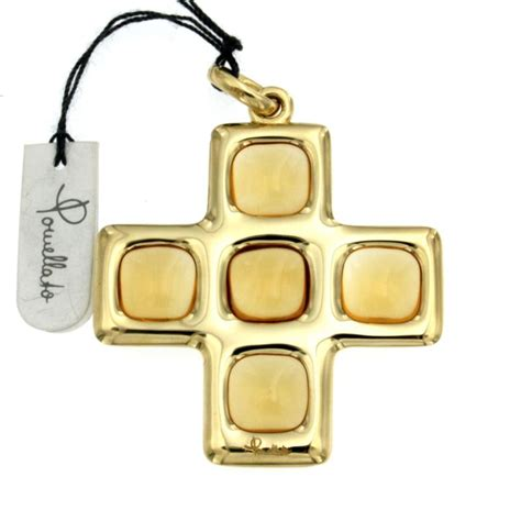 croce pomellato outlet dei preziosi pomellato ciondolo croce con 5