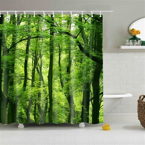 tree print curtains bathroom waterproof fabric colorful tree print shower