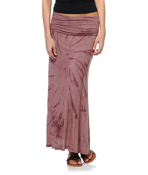 billabong skirtskee mauve tie dye maxi skirt zumiez