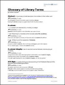 design of experiment glossary glossary of library terms melissa svendsen