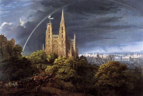 am meer file schinkel karl friedrich gotische kirche auf einem