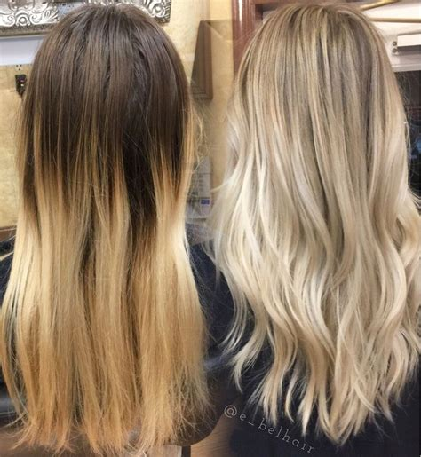 wash hair after balayage highlights 50 best before after extensions images on pinterest