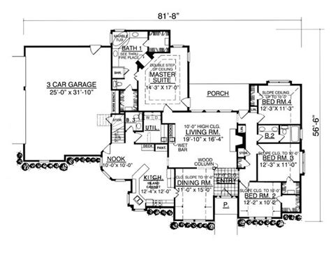 Beautiful Floor Plans the beautiful 7964 4 bedrooms and 2 baths the house
