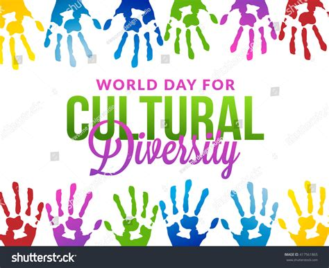 day for vector illustration world day cultural diversity stock
