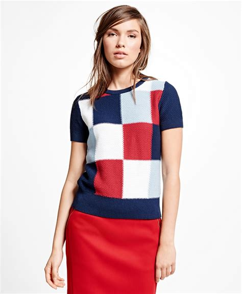 Color Block Sleeve Sweater lyst brothers sleeve color block sweater in