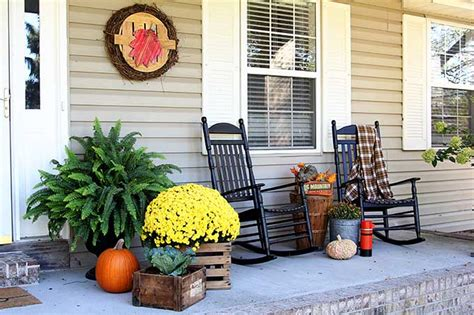 fall front porch ideas  organized mom